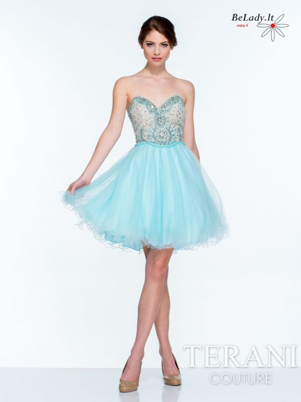 trumpa proginė suknelė 151P0006-sky