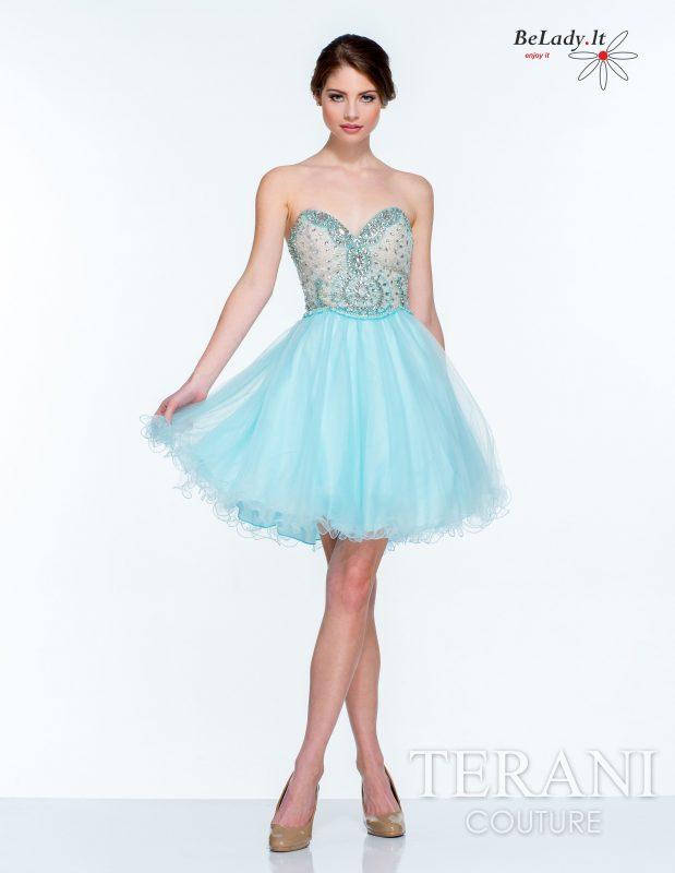 Trumpa pūsta suknelė išleistuvėms