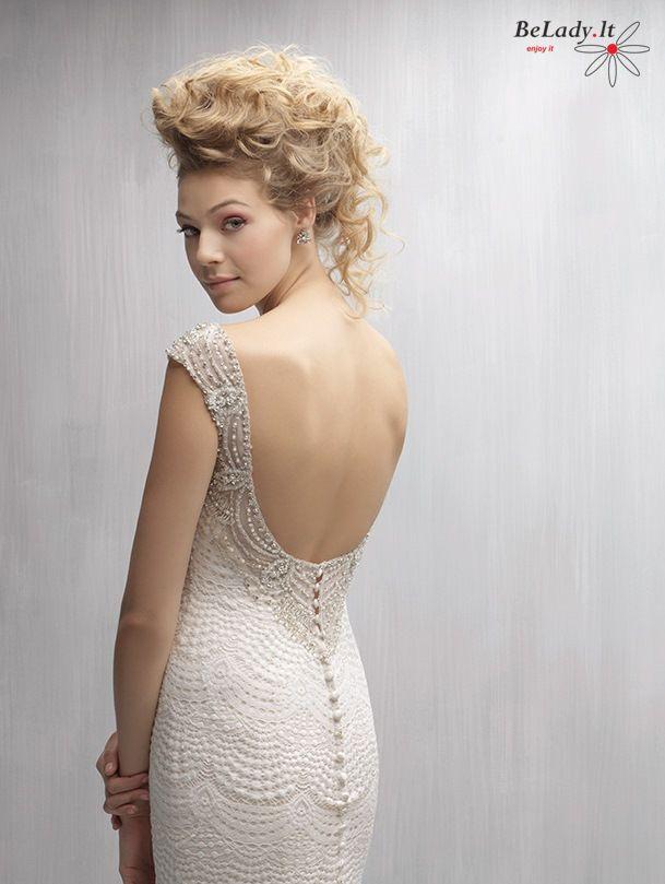 Undineles formos vestuvine suknele_MJ264F iš prabangių nėrinių