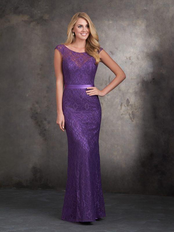 Violetinė proginė suknelė