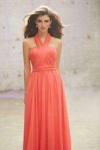Lašišų spalvos proginė suknelė transformeris