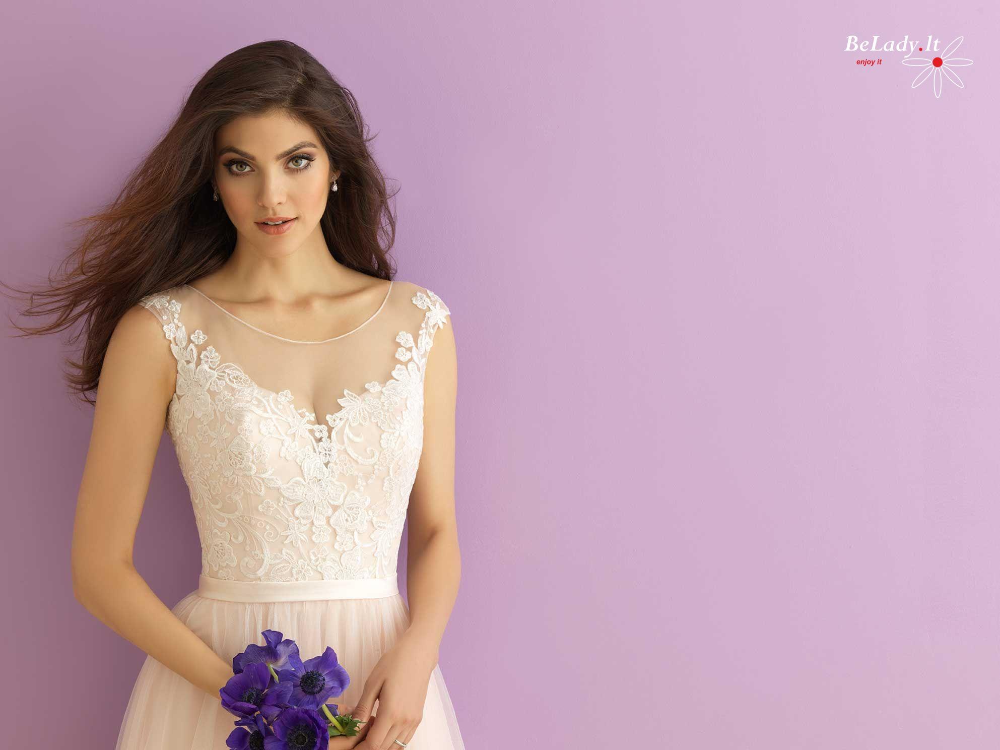 Lengva tiulio vestuvinė suknelė 14_2900B
