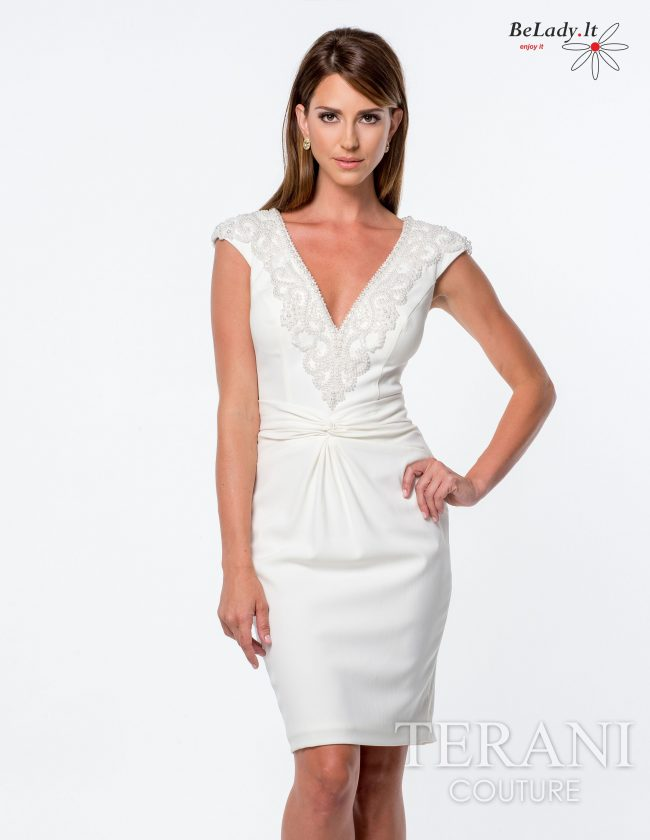 Balta kokteilinė suknelė