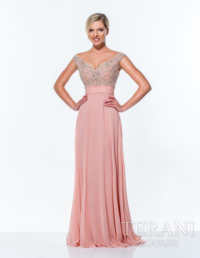 Prabangi rožinė suknelė