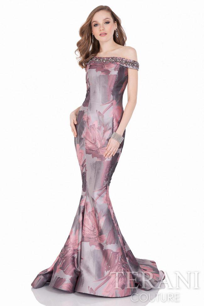 Gėlėta proginė suknelė