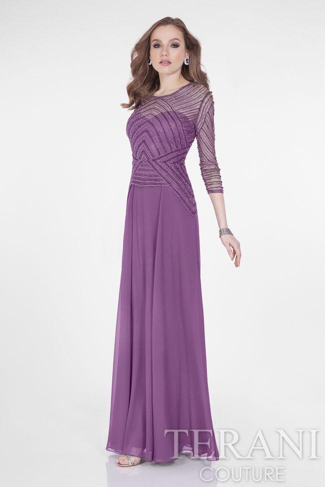 Proginė suknelė su rankovėmis