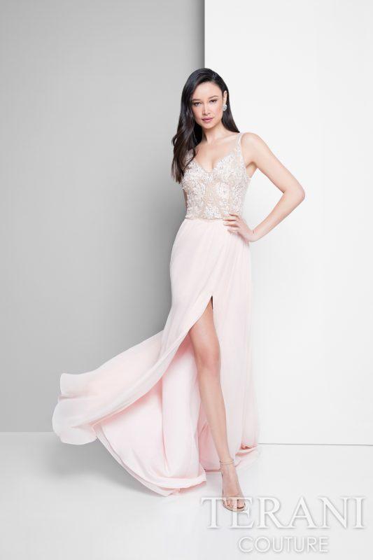 Rožinė suknelė išleistuvėms