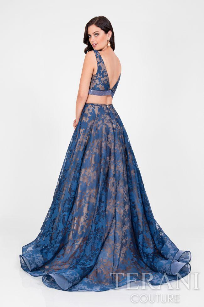 Dviejų dalių proginė suknelė