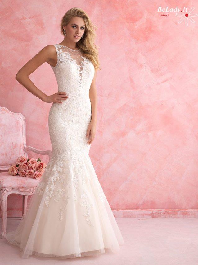 Undinėles formos vestuvinė suknelė atvira nugara 19_2807B (2)