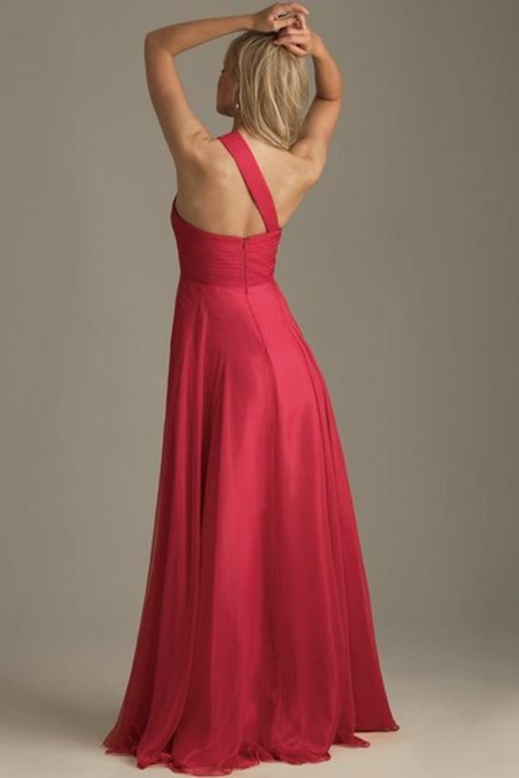 Fuksijos spalvos šifoninė suknelė