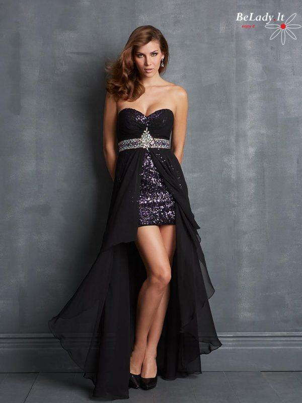 Juoda trumpa proginįė suknelė