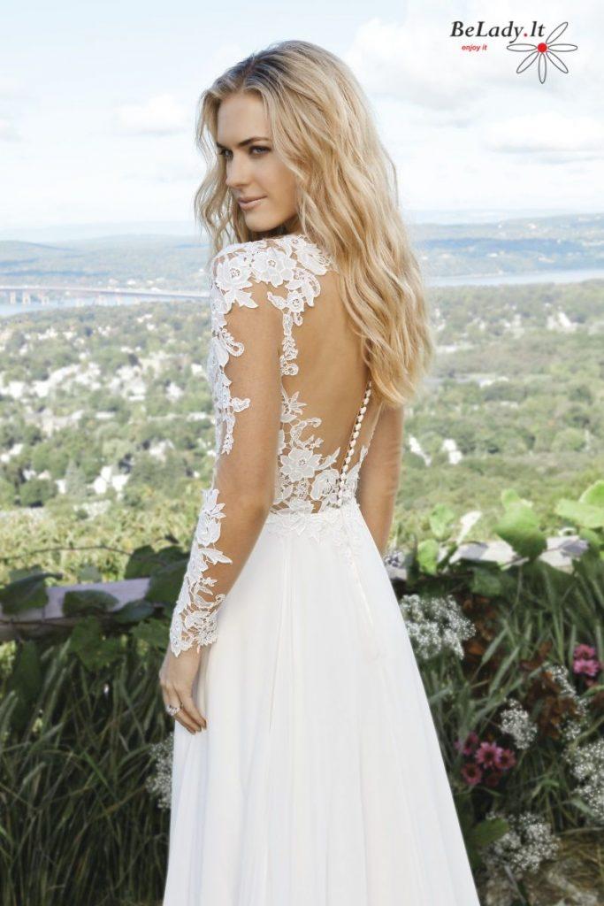 Vestuvinė suknelė ilgomis rankovėmis 6422_LW