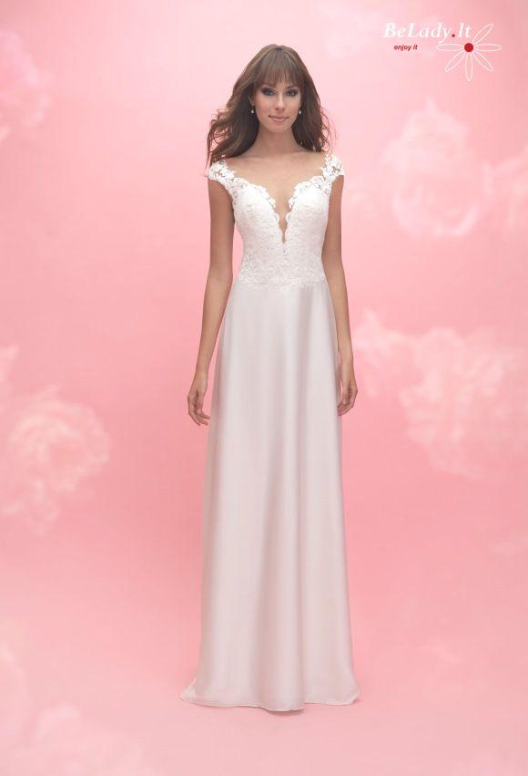 Kukli vestuvinė suknelė nuleistais pečiais