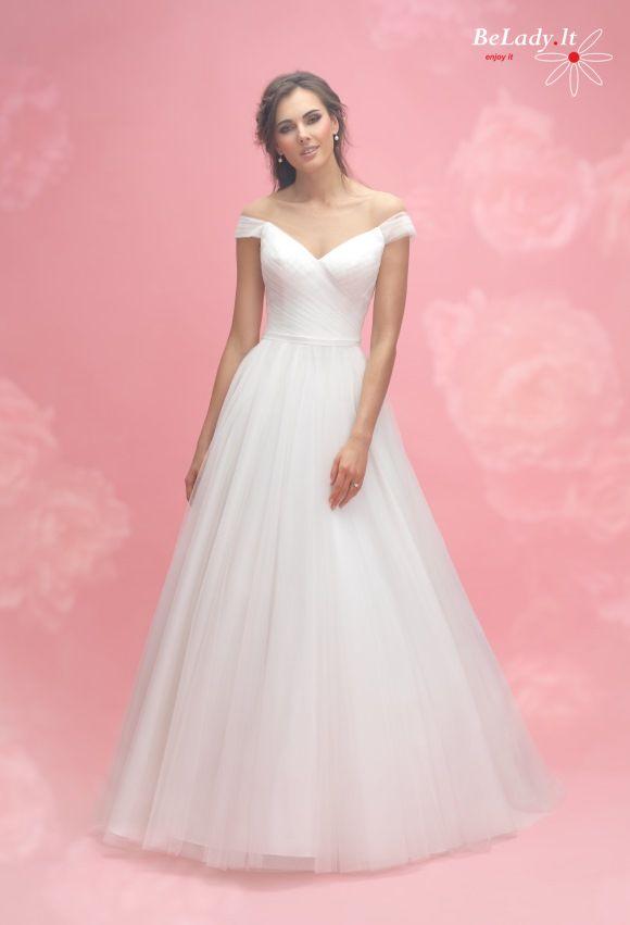 Vestuvinė Allure Bridals suknelė nuleistais pečiais