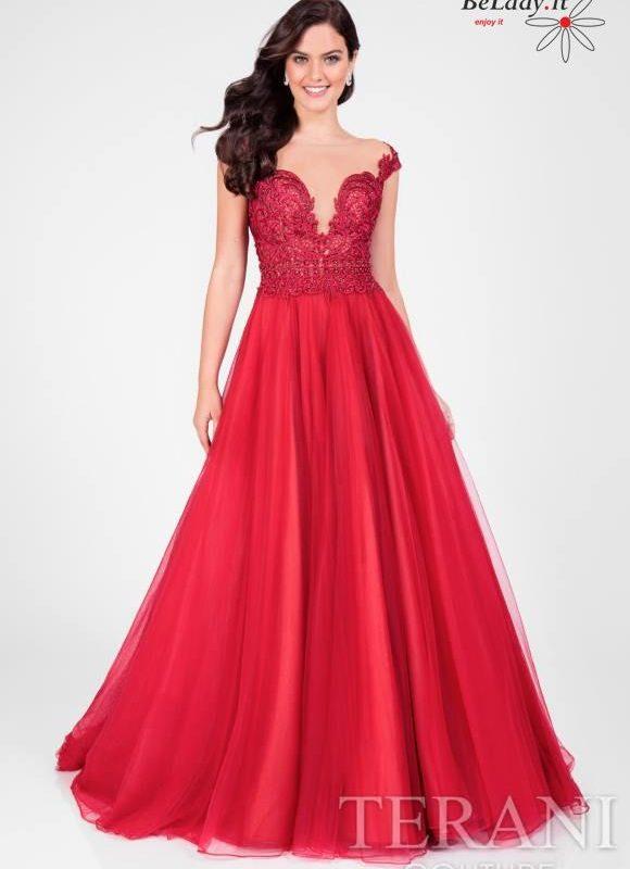 Raudona proginė suknelė 1711P2864