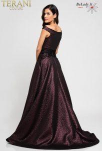 Proginė suknelė nuleistais pečiais 1723E4265