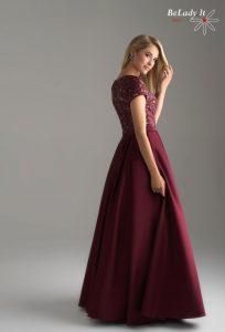 Bordinė proginė suknelė 18-804