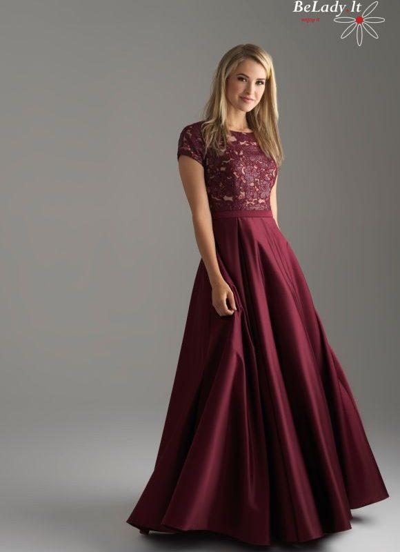 Bordinė proginė suknelė su rankovytėmis
