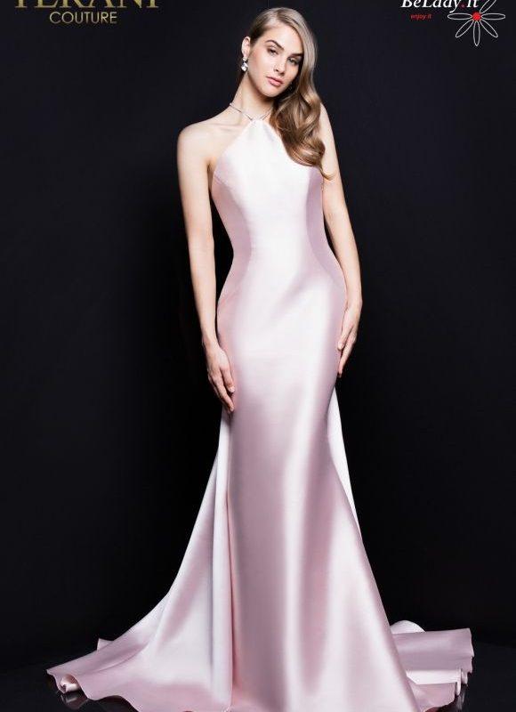 Rožinė proginė suknelė 1811P5230