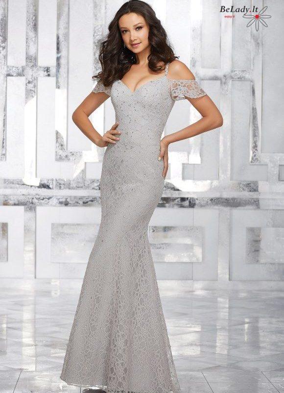 Proginė suknelė nuleistais pečiais 21531