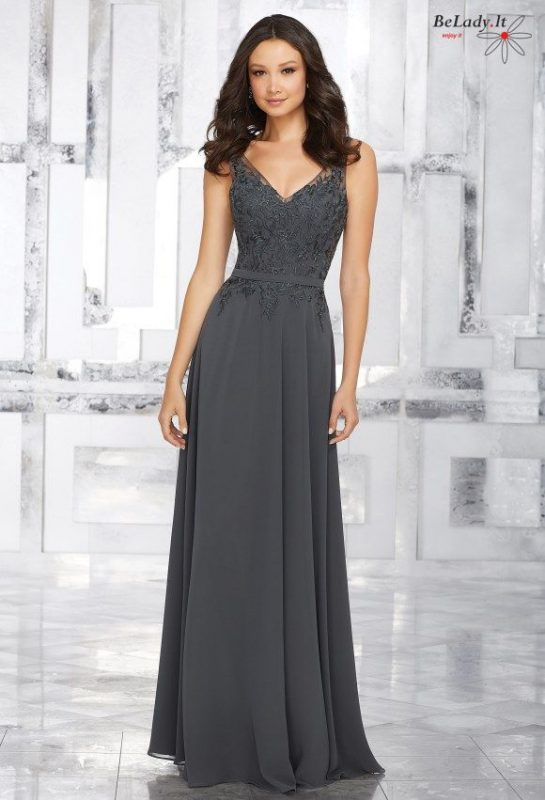Proginė suknelė V formos iškirpte 21544