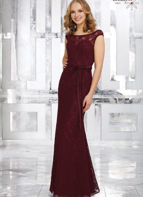 Bordo spalvos proginė suknelė 21545