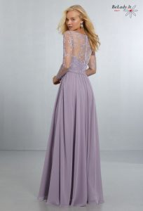 Proginė suknelė su rankovėmis 21561