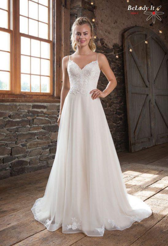 Vestuvinė suknelė ant petnešėlių 1115B