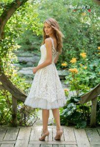 boho stiliaus trumpa vestuvine suknele 66026
