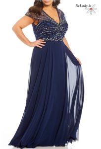 Didesnio dydžio proginė suknelė