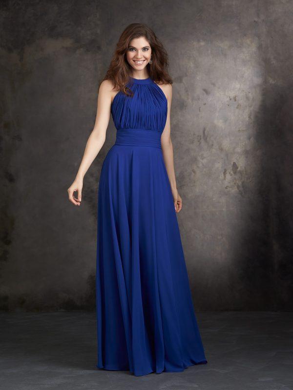 Mėlyna proginė suknelė