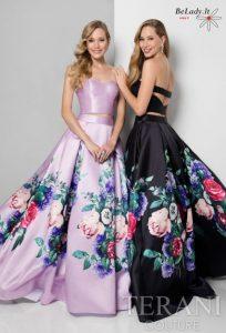 Dviejų dalių proginė suknelė, išleistuvių suknelė