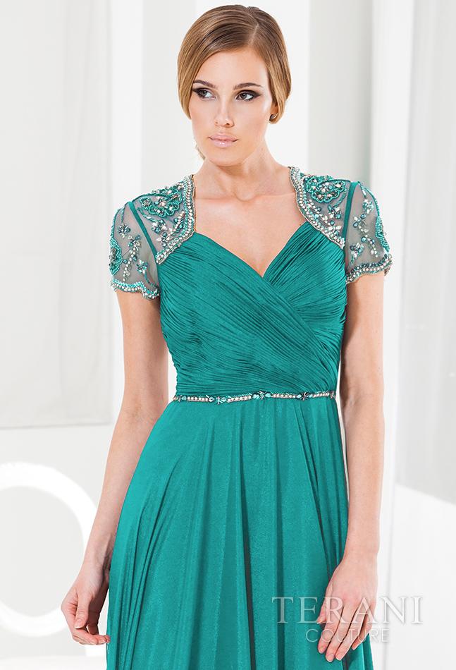 Žalia proginė suknelė