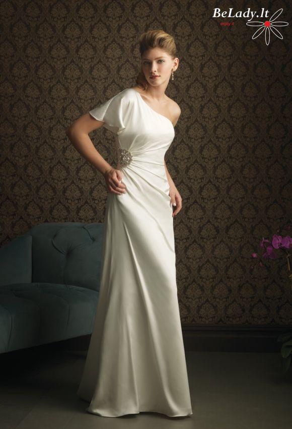 Vestuvinė suknelė per vieną petį