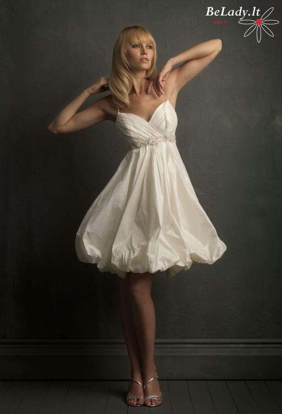 Trumpa vestuvine suknele pigiau