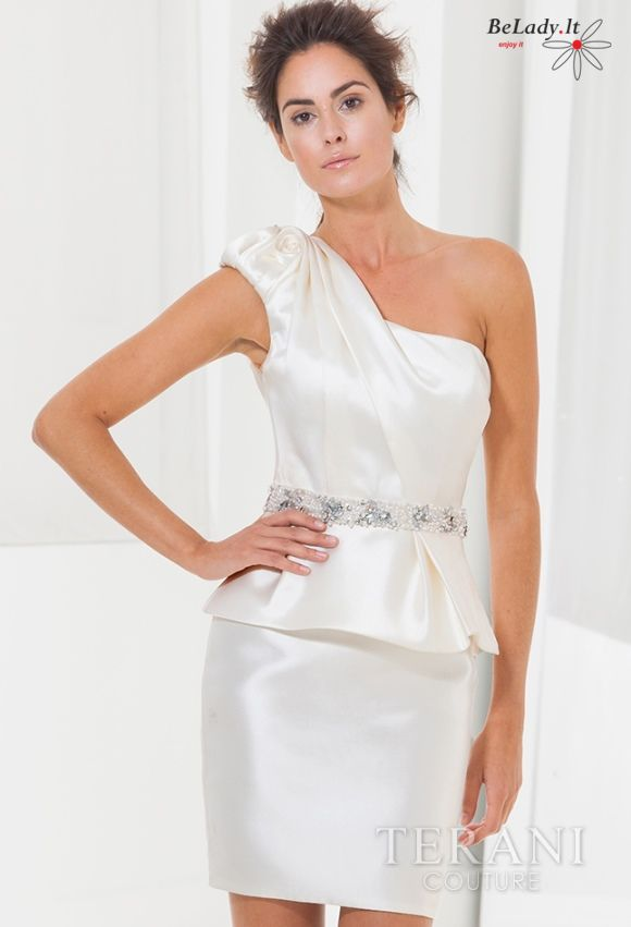 Balta kokteilinė suknelė C3654