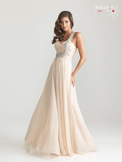 Šampano spalvos proginė suknelė