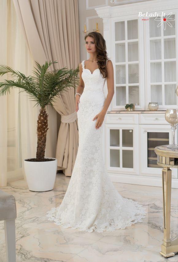 Nėriniuota vestuvinė suknelė 6_Christie_B