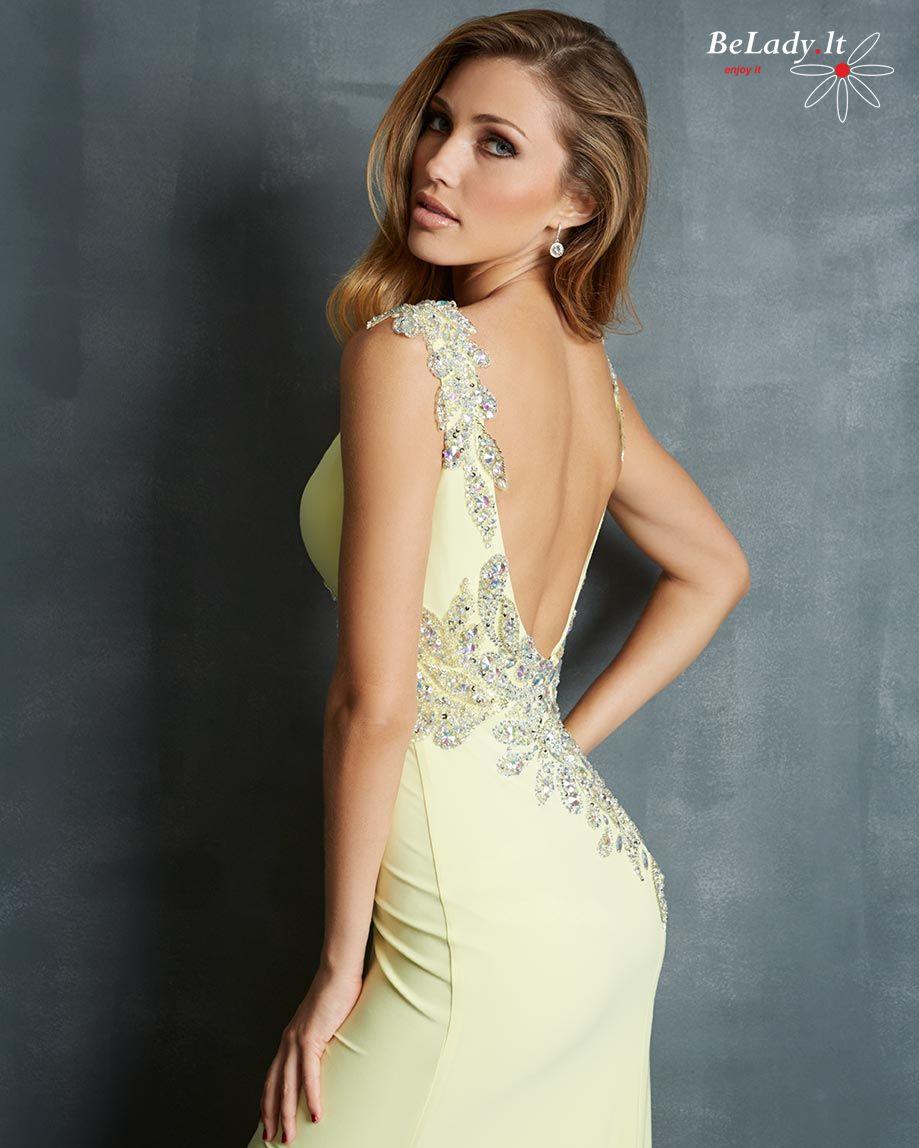 Geltona proginė suknelė
