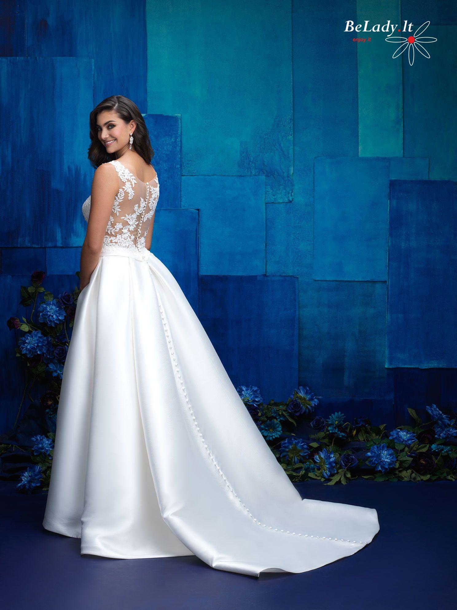 Mikado vestuvinė suknelė nuoma 9_L400B