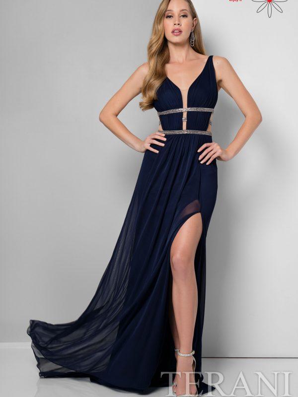 Proginė suknelė pagilinta iškirpte