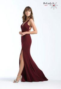 Vyno spalvos suknelė18-743