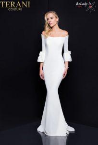 Proginė suknelė platėjančiomis rankovėmis 1811E6135