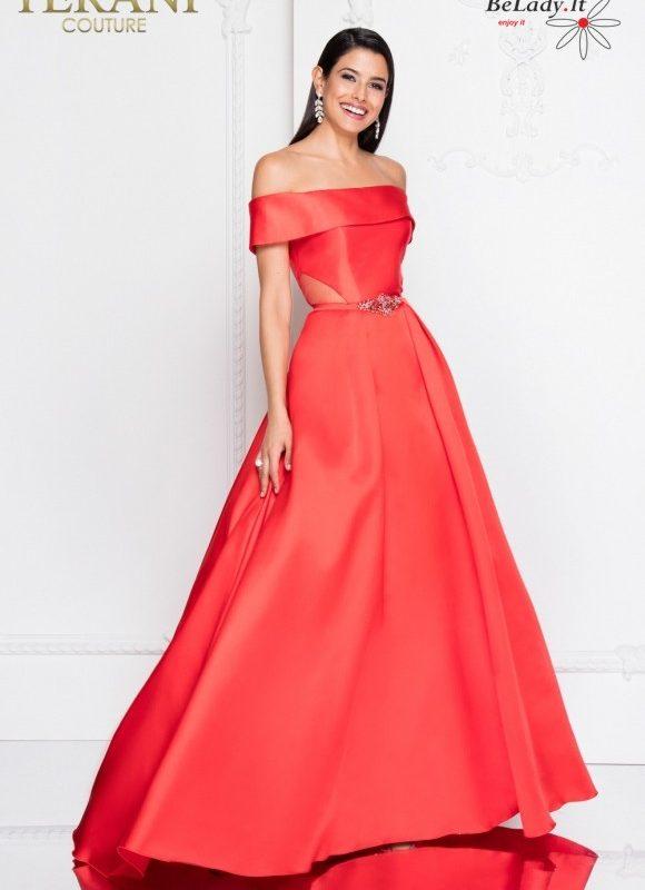 Pūsta raudona suknelė 1813P5190