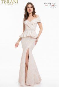 Proginė suknelė nuleistais pečiais 1821M7561
