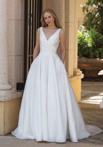 Lygi vestuvinė suknelė 44080_BZ