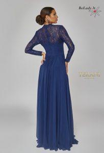 Mėlyna suknelė ilgomis rankovėmis